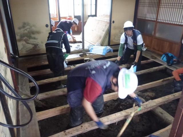 7月19日、南陽市水害復旧支援 3日目