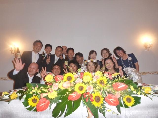 7月20日、仲間の結婚式