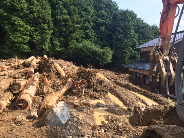 8月23日 丹波水害復旧支援