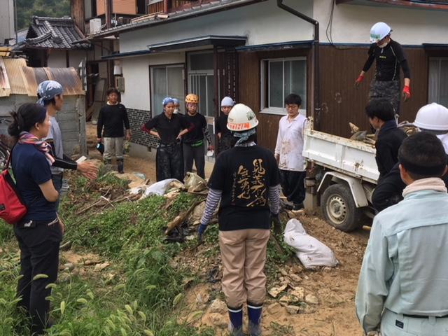 8/11〜8/12 西日本豪雨 吉田町 支援活動